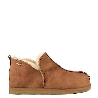 Shepherd af Sverige Herre Anton antik Cognac ruskind tøffel Boot