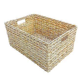 Small Rectangular Water Hyacinth Storage Basket