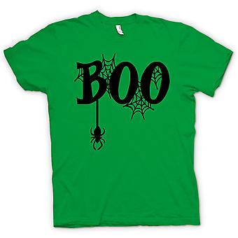 Womens T-shirt - Boo - Spiders Web - Funny