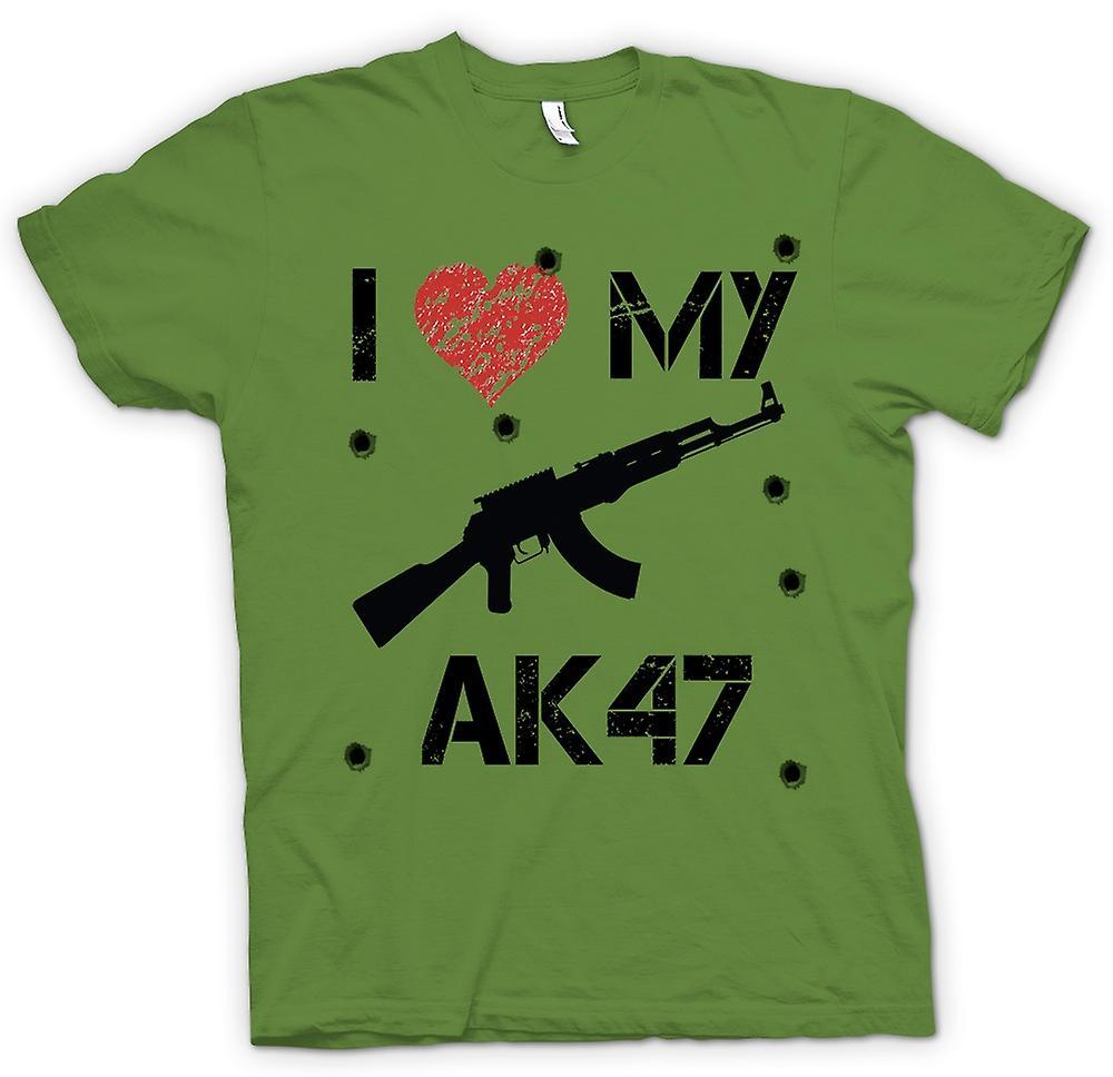Heren T-shirt - Ik hou van mijn AK47 - grappig