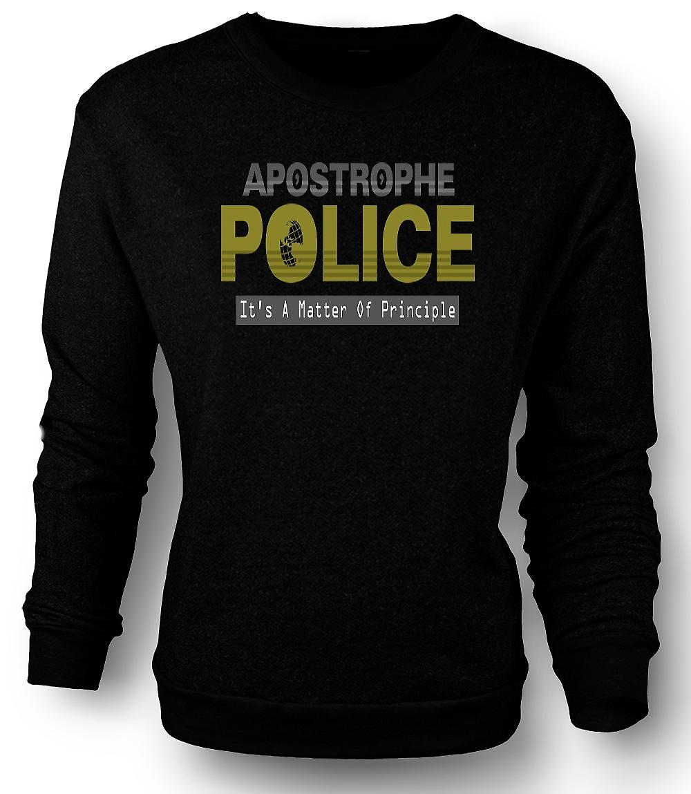Mens Sweatshirt apostrof polisen - Funny
