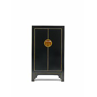 The Nine Schools Wooden Qing Black and Gilt Medium Cabinet - Baumhaus