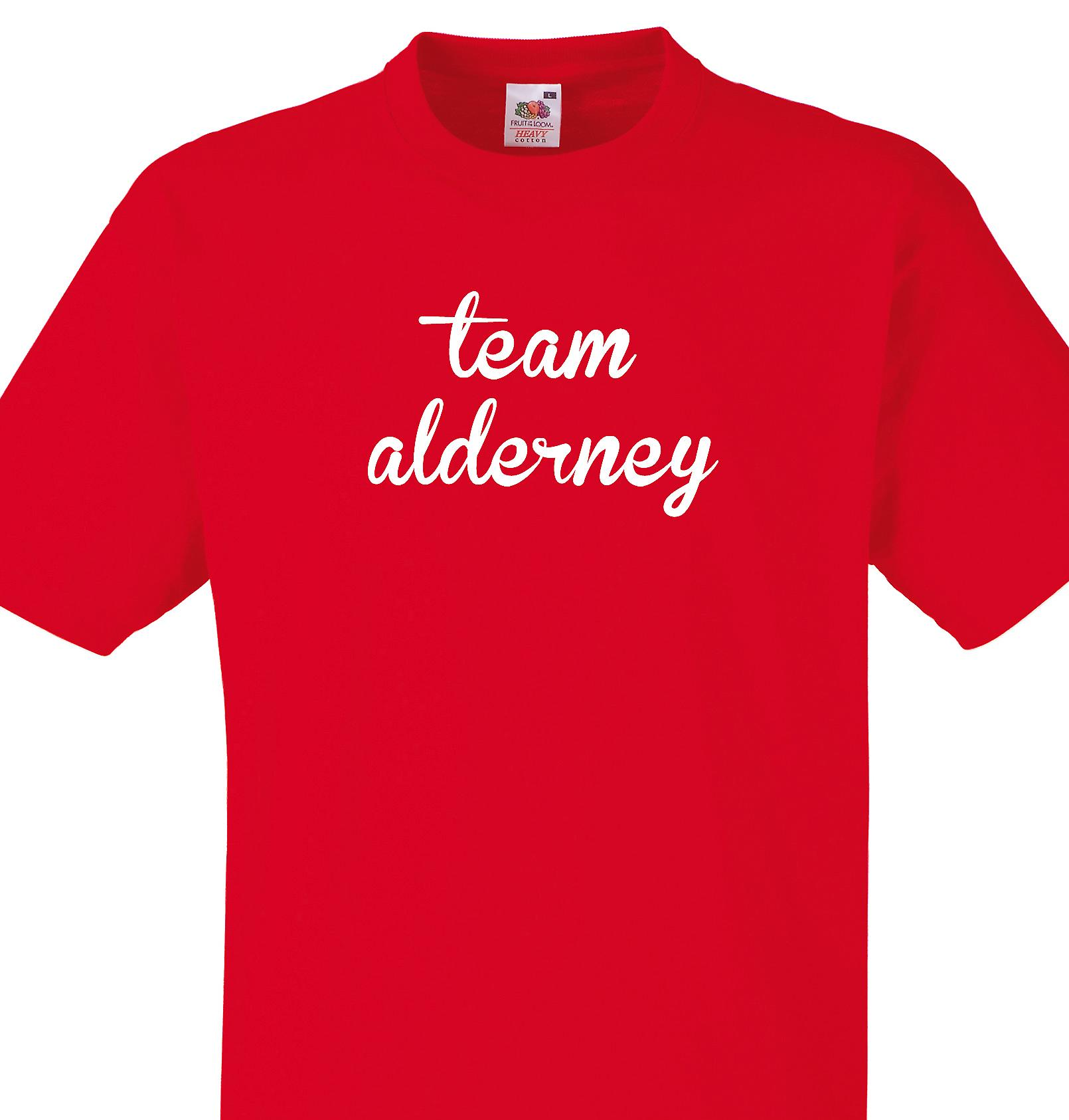 Team Alderney Red T shirt