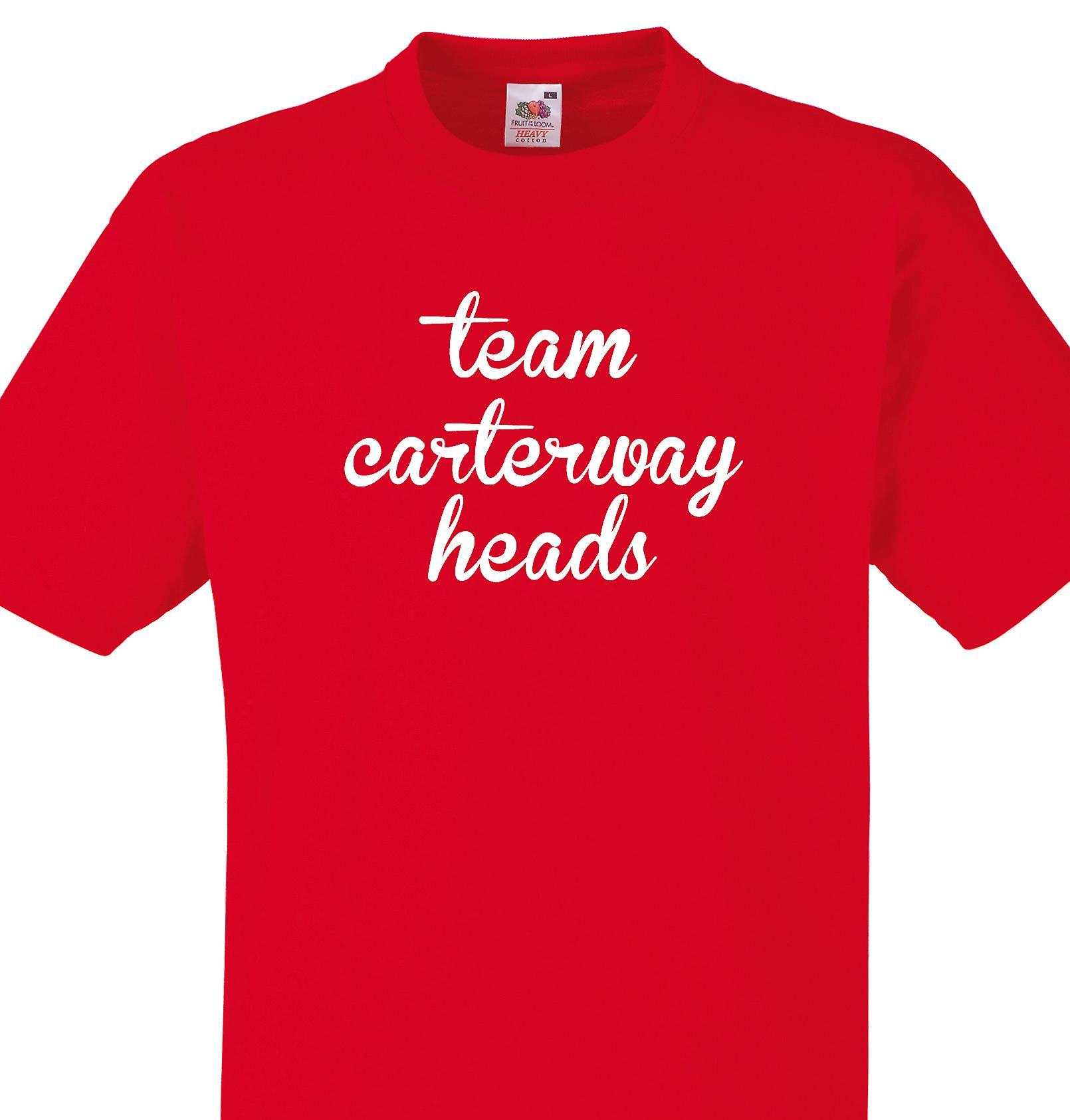 Team Carterway heads Red T shirt