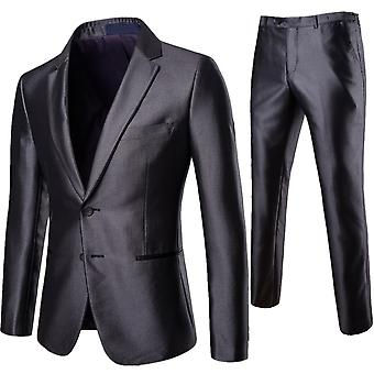Cloudstyle Men's Suit Two-Piece Slim Fit Busniess Suit