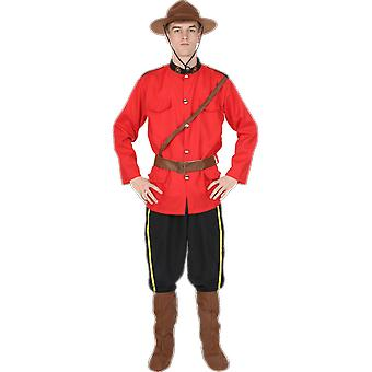 Orion Costumes Mens Red Canadian Rockie Police Military Uniform Fancy Dress