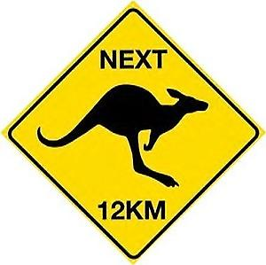 Roos Next 12km Steel Sign