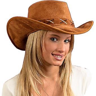 Chapeau Cowboy Suede-Look pour adultes