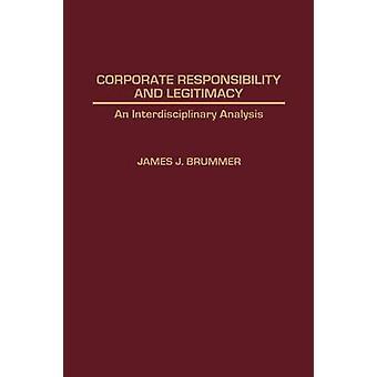 Responsabilidad y legitimidad un análisis interdisciplinario por Brummer y James J.