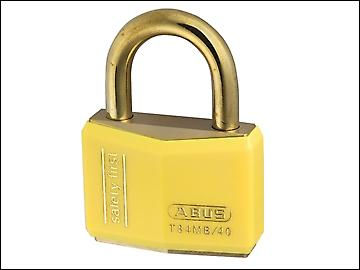 ABUS T84MB/40 40mm Yellow Safety First Rustproof Padlock Keyed 8402
