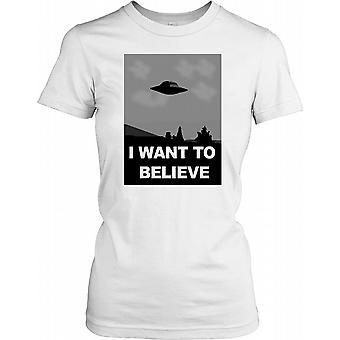 UFO - quiero creer cartel las señoras T Shirt