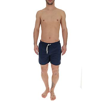 Maison Kitsuné Blue Polyester Trunks