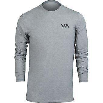 RVCA Mens VA Sport VA Vent Performance LS Shirt - Heather Gray