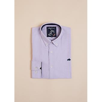 Long Sleeve Signature Oxford Shirt - Purple