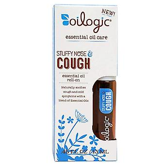 Oilogic stuffy nose & cough oil roll-on, 0.45 oz