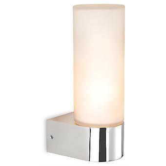Firstlight-1 ljus enda badrum inomhus vägg ljus krom, opal glas IP44-2326CH