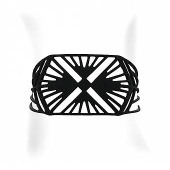 Black silicone bracelet with Hihat tattoo effect