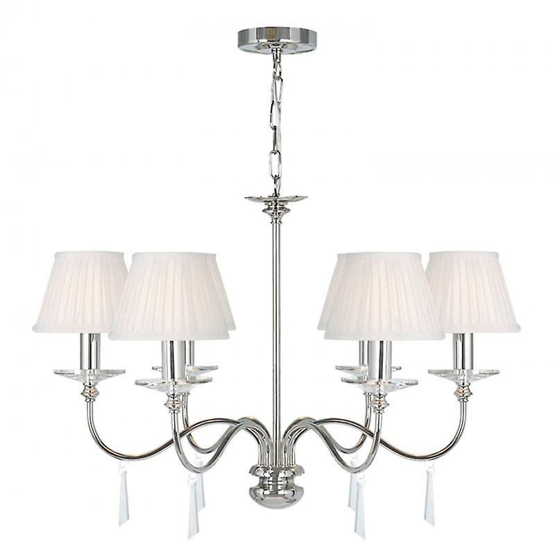 6 Light Chandelier Polished Nickel Finish - Shades Not Included