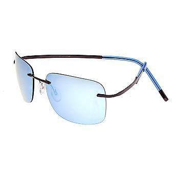 Breed Orbit Titanium Polarized Sunglasses - Brown/Blue