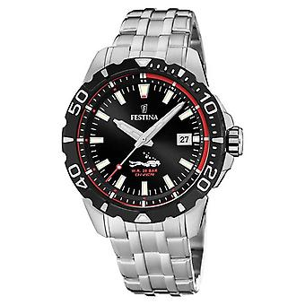 Festina | Mens Divers | Stainless Steel Bracelet | Black Dial | F20461/2 Watch