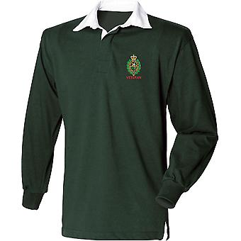 Royal Regiment Of Fusiliers Crest Veteran - Licensed British Army Embroidered Long Sleeve Rugby Shirt