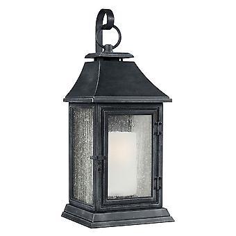 Elstead - 1 Light Extra Large Wall Lantern - Dark Zinc Finish - FE/SHEPHERD/2XL