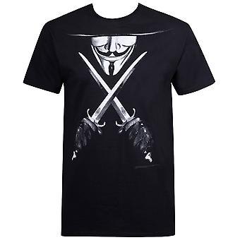V for Vendetta Crossed Daggers Men's T-Shirt