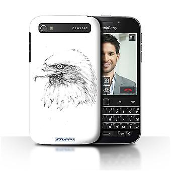 STUFF4 Case/Cover for Blackberry Classic/Q20/Eagle/Bird/Sketch Drawing