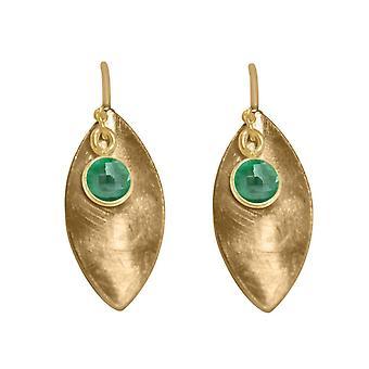 GEMSHINE Damenohrringe in massiv 925 Silber, vergoldet oder rose Smaragd grün