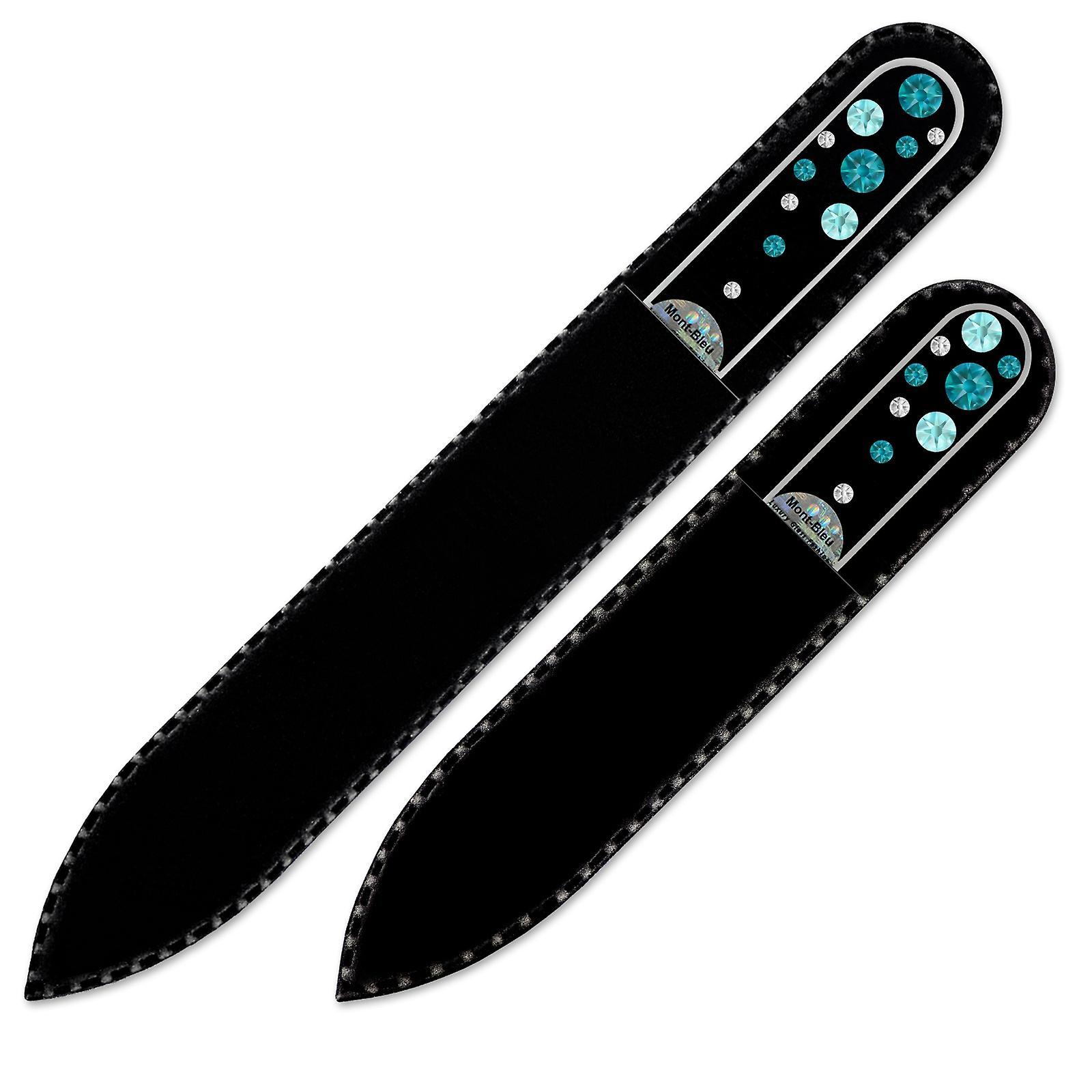 Set of 2 Transparent Crystal Nail Files with crystals W-MS