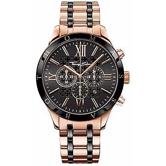 Thomas Sabo Mens Stainless Steel Strap Black Ceramic Dial WA0187-267-203-43 Watch
