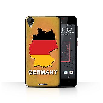 STUFF4 Case/Cover for HTC Desire 825/Germany/German/Flag Nations