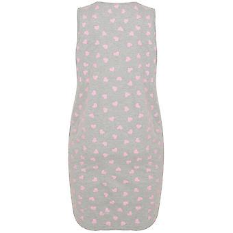 Grey & Pink Heart Print Nightdress