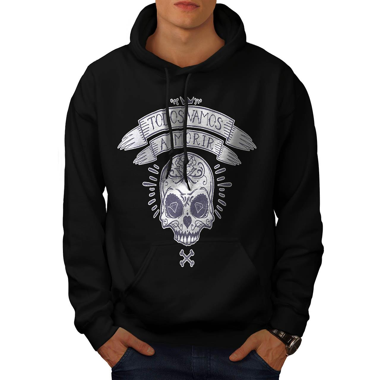 Diamond Skull Bones Monster Dead Men Black Hoodie | Wellcoda
