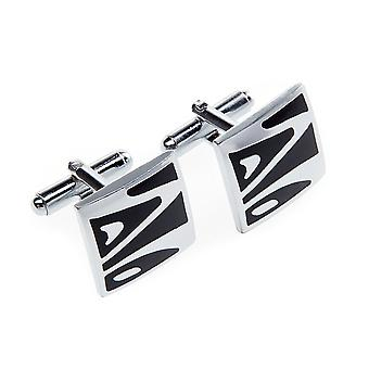Frédéric Thomass cuff links square black Silver II
