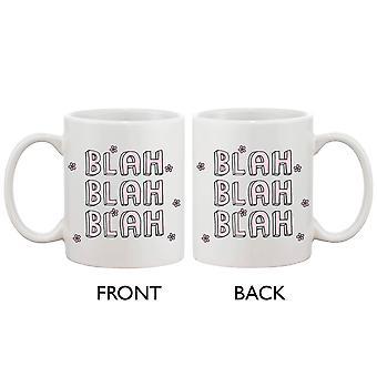 Niedliche Keramik 11oz Becher-Blah Blah Blah-einfache Kaffeebecher Tasse Geschenk