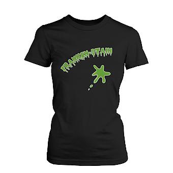 Franken-stain Halloween Women's Shirt Funny Graphic Black Tee for Horror Night  Funny Shirt