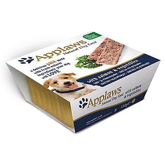 Applaws hund Pate Alu bakken laks med grøntsager 150g (pakke med 7)