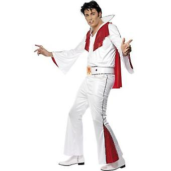Smiffys Elvis Costume White With Shirt Trousers Cape And Belt (Kostüme)