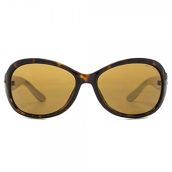 Kurt Geiger Victoria Medium Wrap Sunglasses In Tortoiseshell