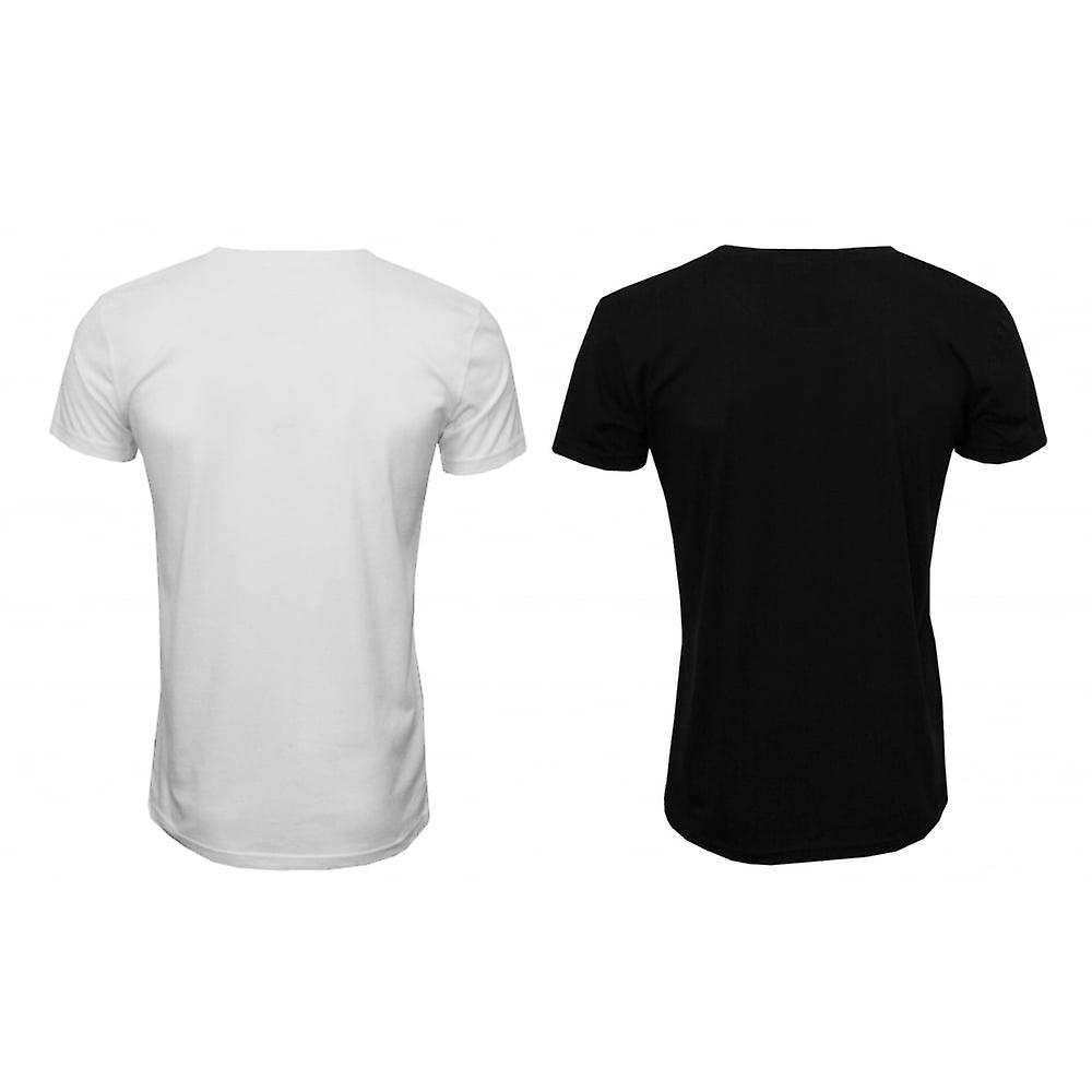 Gant 2-Pack Crew-Neck T-Shirts, Black/White