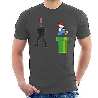 Metal Gear Solid wroga żołnierza Alert Super Mario Men's T-Shirt