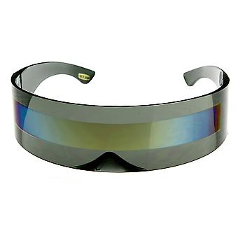 Futurystyczny owinąć wokół tarczy Monoblock okulary