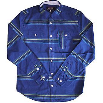 Mishka Flatliner knappen ned langærmet skjorte blå