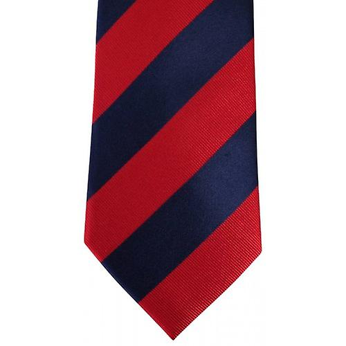 David Van Hagen Striped Tie - Navy/Red