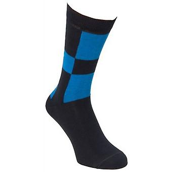 40 Colori Racing Socks - Charcoal/Blue