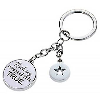 Troika Nothing Is Too Good Key Ring - White/Black