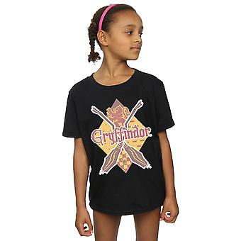 Harry Potter Girls Gryffindor Lozenge T-Shirt