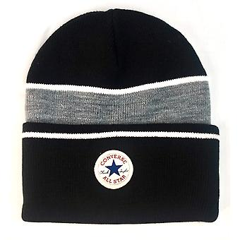 Converse Chuck Taylor Blocked Knit Beanie - Black
