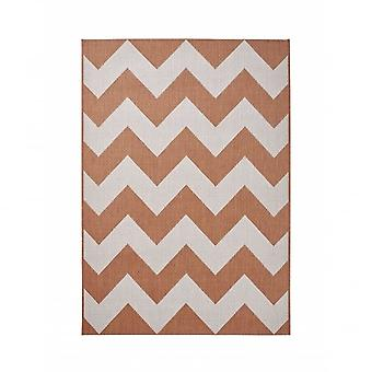Boutique Camping Cottage Rug - Terracotta